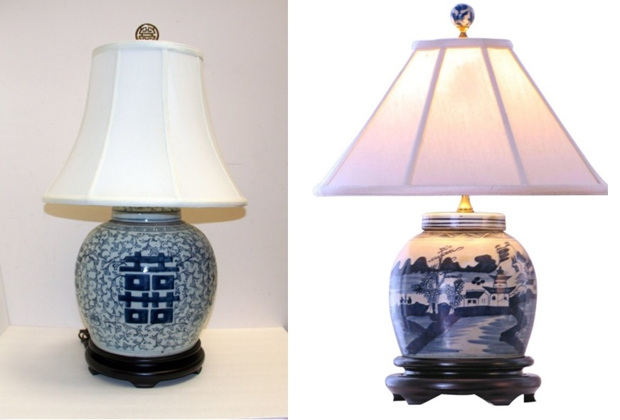 Trending Blue And White Lamps Continue To Be Popular
