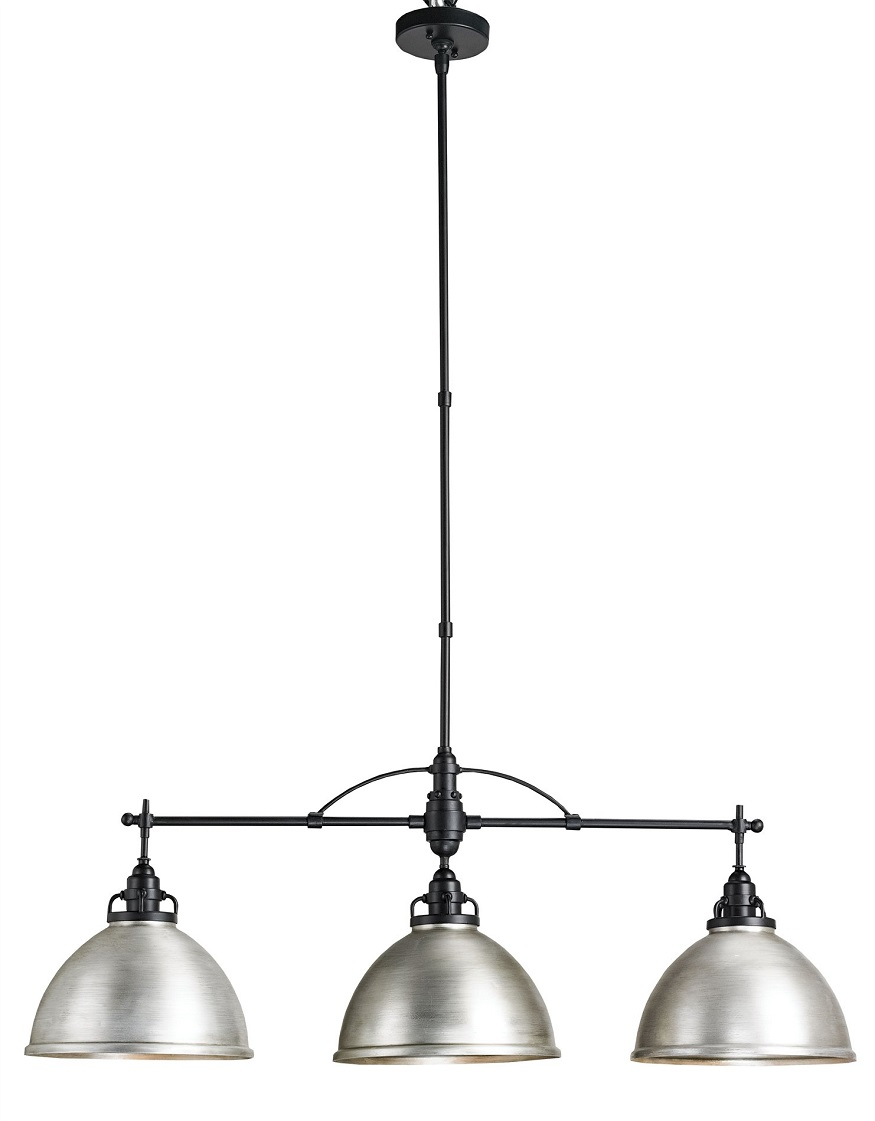 Visual Comfort Chapman Sloane Double Shop Light In Antique Nickel