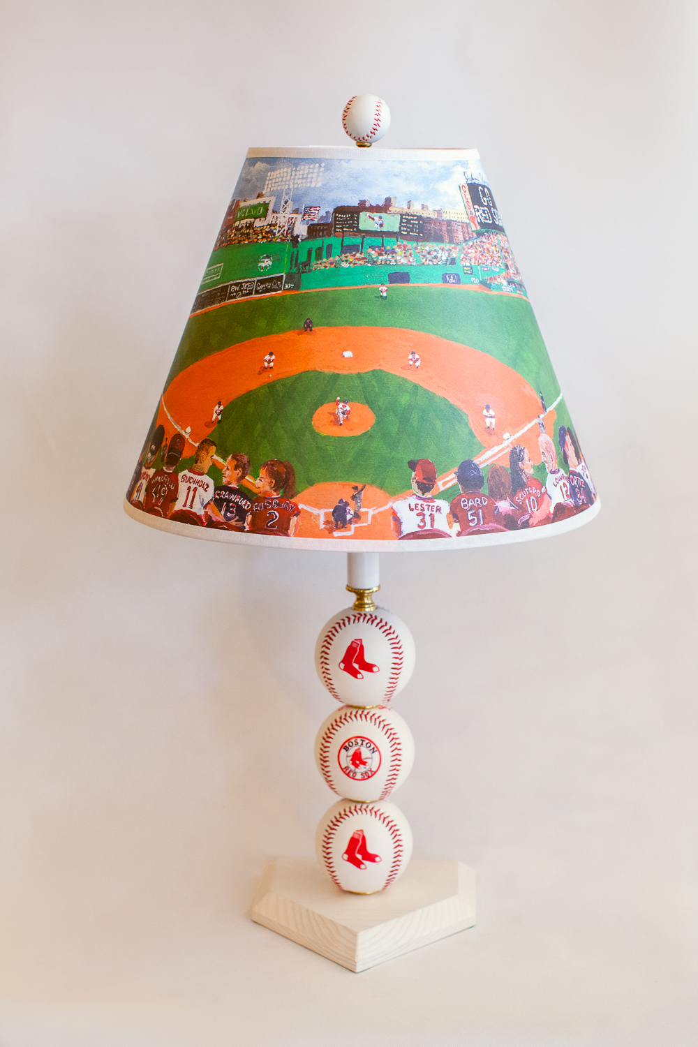 Custom lampshades archives concord lamp and shade boston red sox table lamp with special lampshade mozeypictures Choice Image