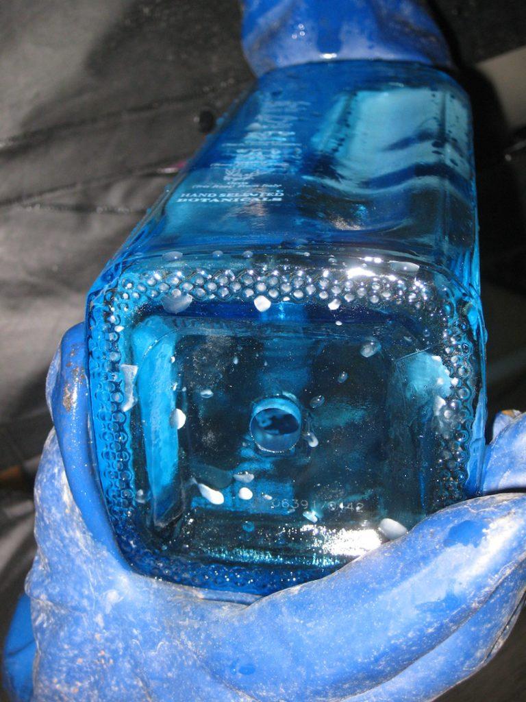 drilled bottle