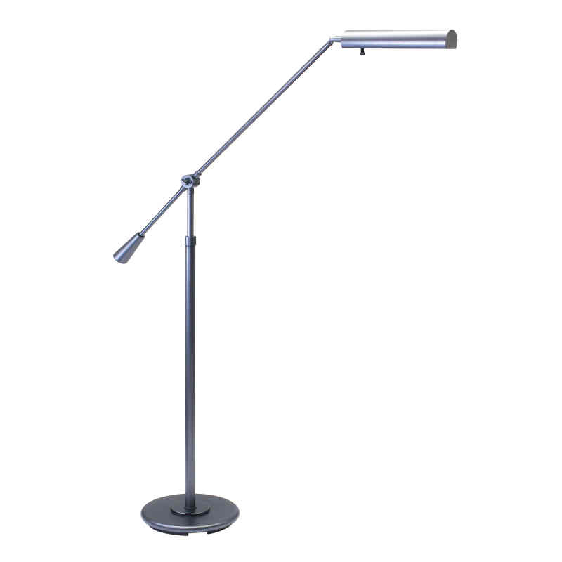 Floor Swing Arm Lamp in Granite finish with adjustable height