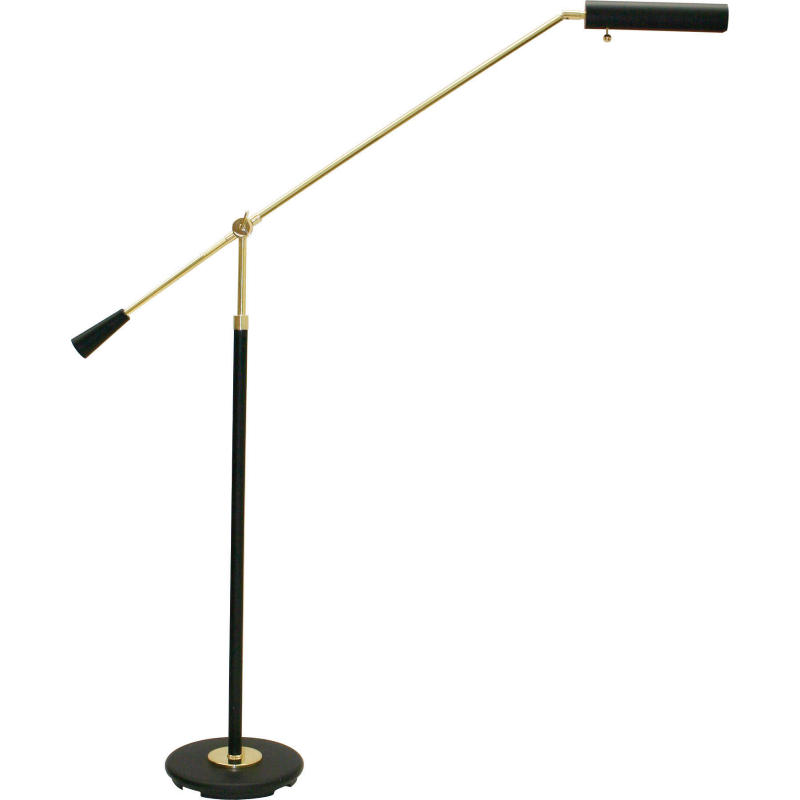 PFL-617 House of Grand Piano Floor Lamp in Black and Polished Brass Accents