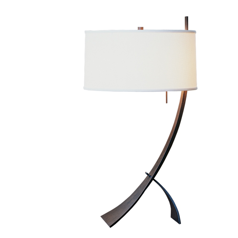 Hubbardton Forge Lamp Shades: Hubbardton Forge Wrought Iron Stasis Table Lamp With Shade