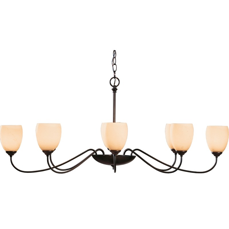 Hubbardton Forge Rainfall: Hubbardton Forge Oval Chandelier With 8 Arms And Glass