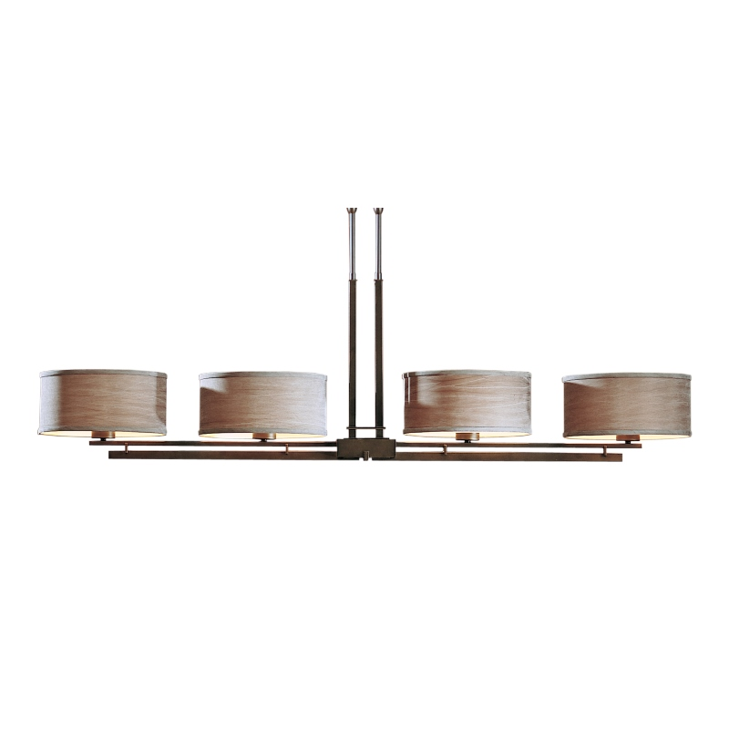 Hubbardton Forge Glass Shades: Hubbardton Forge Trestle Up Light Pendant With Shade And