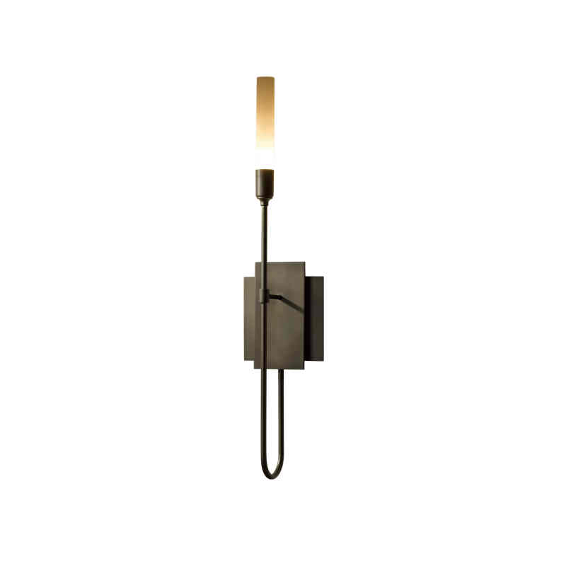 Hubbardton Forge New Town Sconce: Hubbardton Forge Lisse Single Light Wall Sconce With Glass