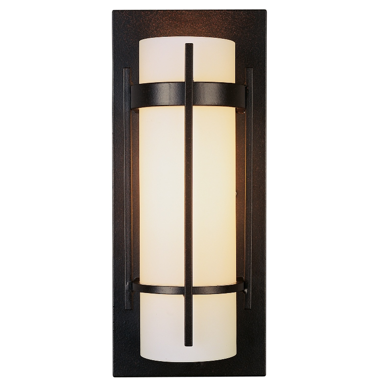 Hubbardton Forge Glass Shades: Hubbardton Forge Banded With Bars Wall Sconce With Glass