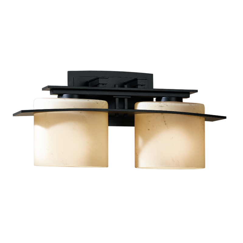 Hubbardton Forge Glass Shades: Hubbardton Forge Arc Ellipse 2-Light Wall Sconce With
