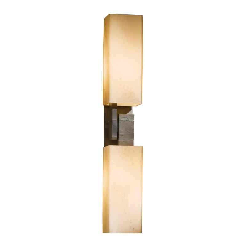 Hubbardton Forge Glass Shades: Hubbardton Forge Ondrian 2-Light Wall Sconce With Glass