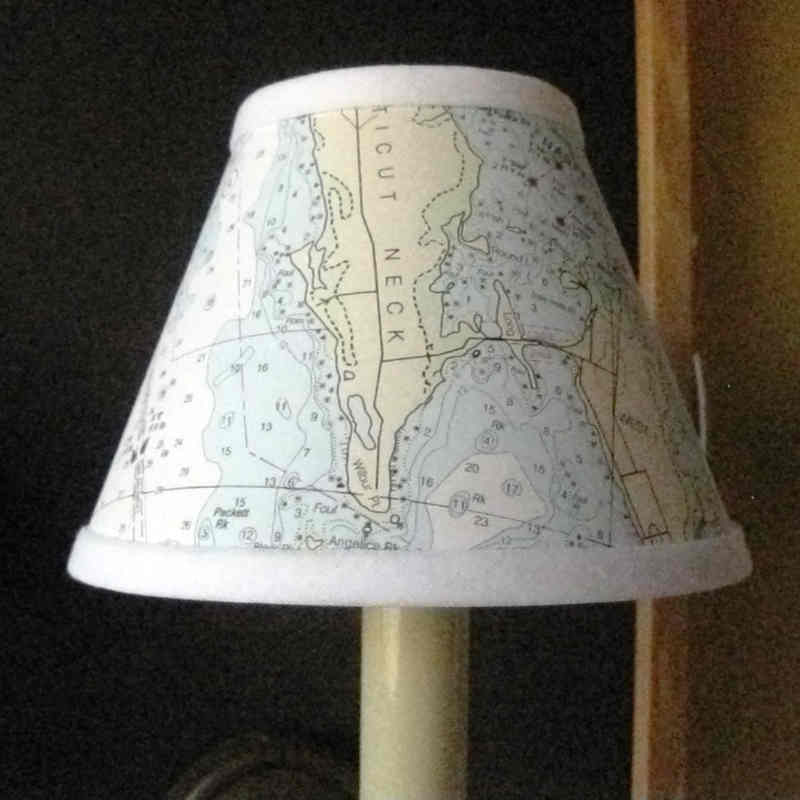 Chandelier Sconce Shades Nautical Chart Lampshades