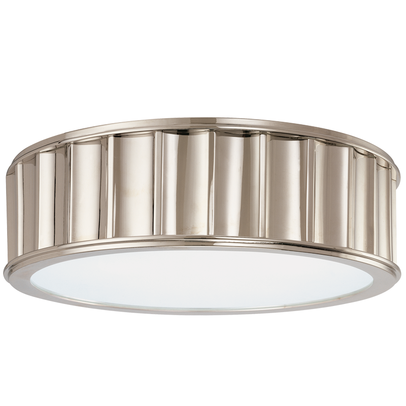 911-PN_Hudson Valley Middlebury Flush-Mount Ceiling Fixture in Polished Nickel