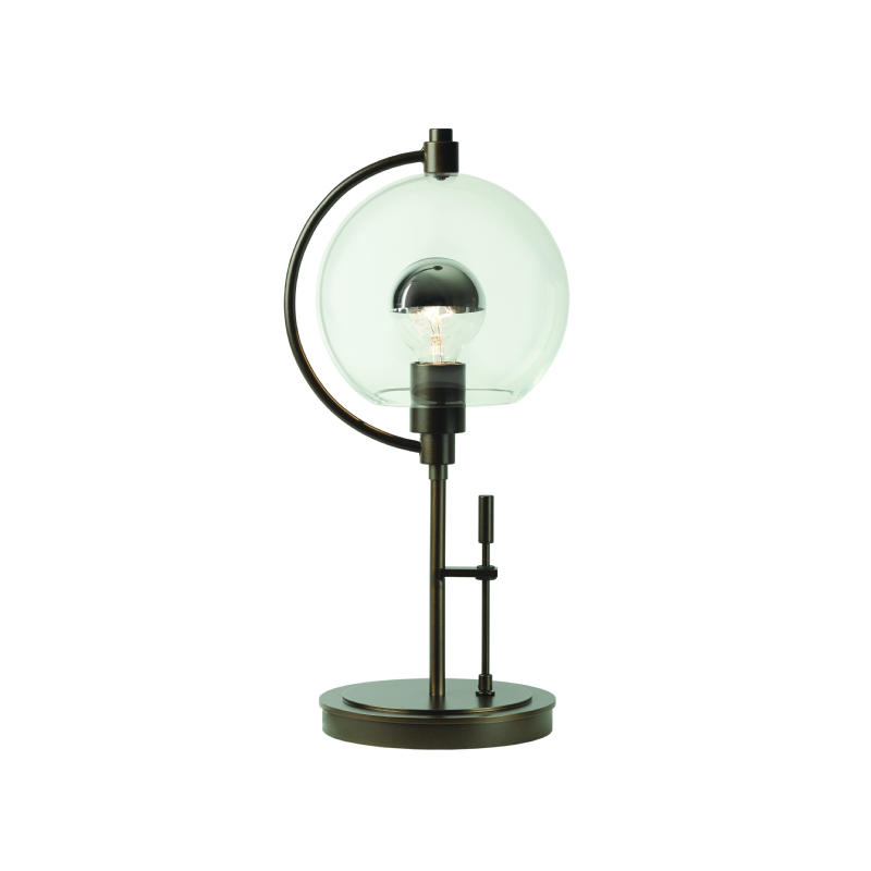 Hubbardton Forge Glass Shades: Hubbardton Forge Pluto Table Lamp With Glass Options