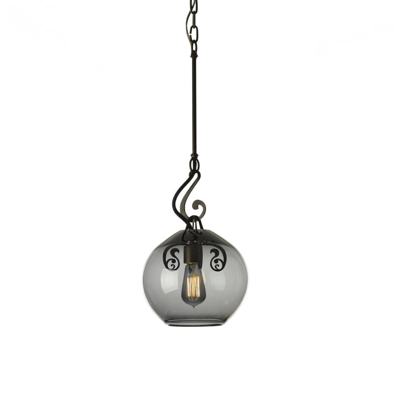 Hubbardton Forge Glass Shades: Hubbardton Forge Lure Adjustable Pendant With Hand-Blown