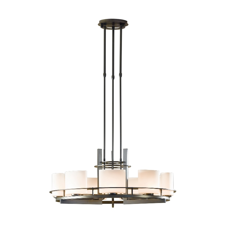 Ellipse Circular 9 Light Adjustable Pendant With Glass