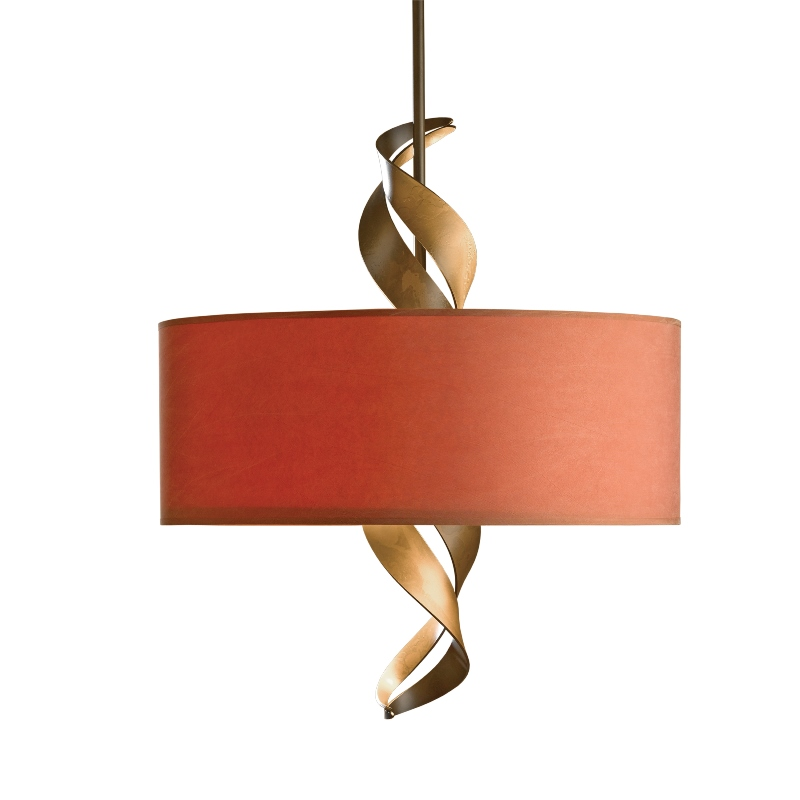 Hubbardton Forge Lamp Shades: Hubbardton Forge Folio Adjustable Drum Pendant With Shade