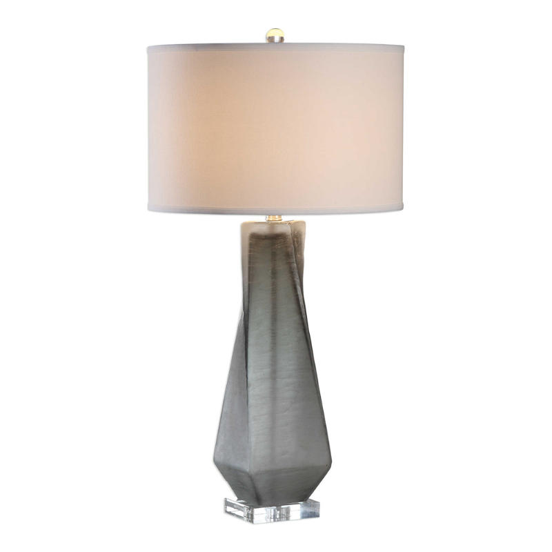 Uttermost Anatoli Charcoal Gray Glass Table Lamp Concord