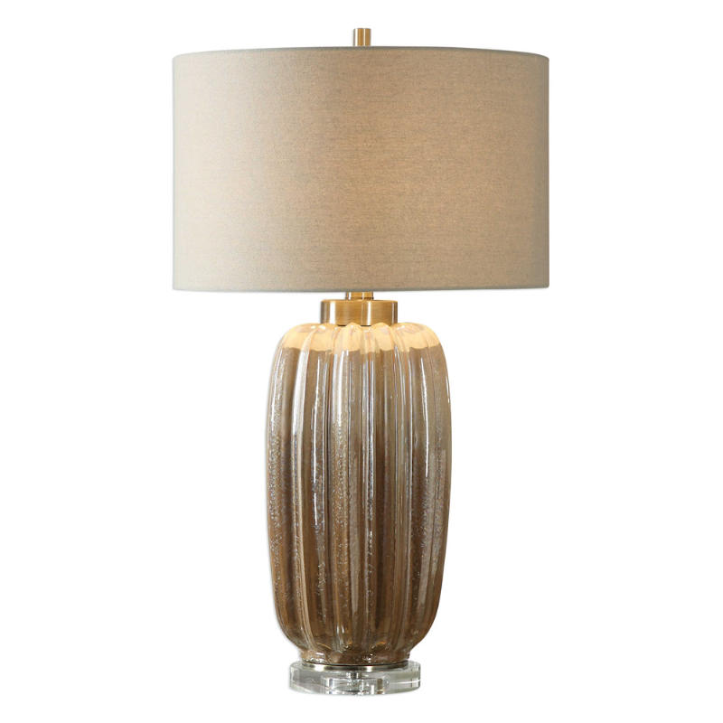 Uttermost Gistova Ceramic Table Lamp In A Two Tone Ivory