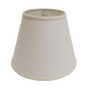 Empire Hardback Lampshade in White Linen