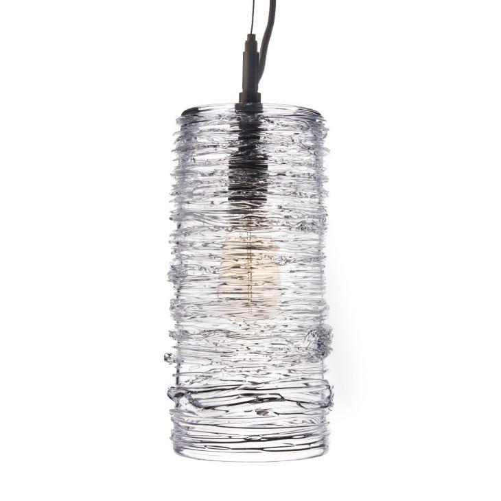 3147 Simon Pearce Echo Lake Blown Glass Pendant