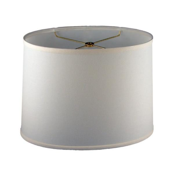 Oval Drum in White Linen